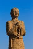 San di legno della statua fotografia stock libera da diritti