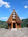 San di legno Sava Church nel villaggio tradizionale di Drvengrad, Mokra Gora, Drvengrad fotografie stock libere da diritti