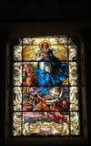 San di vetro macchiato della finestra Fotografie Stock Libere da Diritti