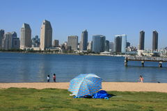 San Diego. Downtown San Diego as seen from Coronado Island Royalty Free Stock Image