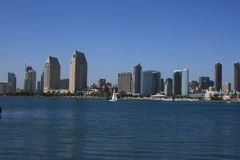 San Diego. Downtown as seen from Coronado Island Stock Image
