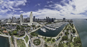 San Diego aerial panoramic Royalty Free Stock Photography