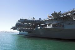 San Diego - aircraft carrier Royalty Free Stock Photography