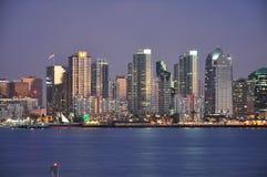 San Diego al crepuscolo Fotografia Stock Libera da Diritti