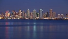San Diego alla notte Fotografie Stock Libere da Diritti