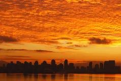 San Diego au lever de soleil Photo stock