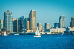 San Diego Bay. And the City Skyline. San Diego, California, United States stock photos
