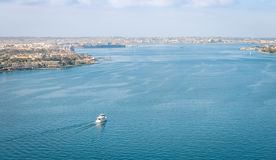 San Diego Bay from Coronado Bridge Royalty Free Stock Photo