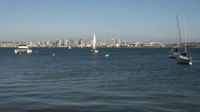 San Diego Bay & lasso di tempo dell'orizzonte archivi video