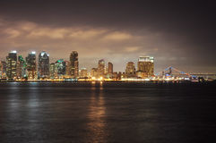 San Diego Bay at night Stock Photo