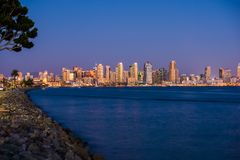 San Diego Bay Skyline Imagen de archivo