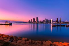 Purple Sunset San Diego Royalty Free Stock Photography
