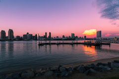 San Diego Bay At Sunset Stock Photography