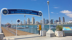 A San Diego Bay View from the Coronado Ferry Landing Royalty Free Stock Photography