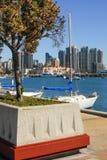 San Diego Bay View med seglar fartyg Arkivbild