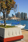 San Diego Bay View with Sail Boats Stock Photography