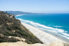 San Diego beach along coastline - Torrey Pines gliderport Royalty Free Stock Images