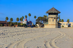 San Diego beach in CA Stock Photography