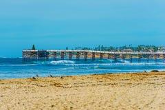 San Diego Beach and Pier Stock Photo