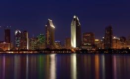 San Diego beleuchtet Panorama Lizenzfreie Stockbilder