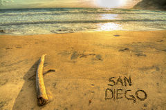 San Diego bij zonsondergang Stock Afbeelding