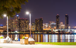 San Diego bis zum Nacht Lizenzfreie Stockfotos