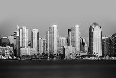 San Diego in Black and White. San Diego, California, USA stock photos