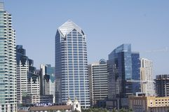San Diego buildings. A view of san diego, califonia on a summer day Royalty Free Stock Photo