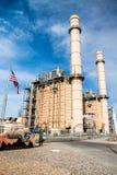 Elektrisk kraftverk Arkivbild