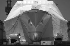 SAN DIEGO, CA - budowa na okręcie marynarki wojennej tonującym Zdjęcia Stock