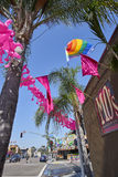 SAN DIEGO, CA - JULY 12 2017: getting ready for annual Pride Festival and Parade Stock Photography
