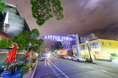 SAN DIEGO, CA - JULY 30, 2017: Little Italy entrance at night. T Stock Photo
