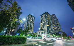 SAN DIEGO, CA - JULY 29, 2017: Night view of Downtown buildings. Royalty Free Stock Images