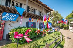 SAN DIEGO, CA - JULY 30, 2017: Tourists in Seaport Village. San royalty free stock photo