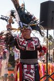Aztec dancers celebrate Dia de los Muertos Royalty Free Stock Images