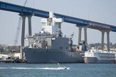 SAN DIEGO, CA, USS harfiarzów prom LSD-49 - Zdjęcie Royalty Free