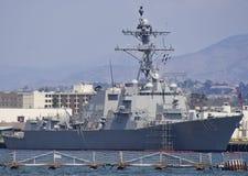 SAN DIEGO, CA - USS Rafael Peralta (DDG-115) royalty free stock image