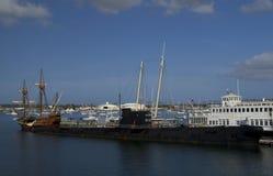 SAN DIEGO, Califórnia, EUA - 13 de março de 2016: San Diego Maritime Museum no porto de San Diego, EUA Imagem de Stock Royalty Free