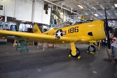 San Diego, Califórnia - EUA - dezembro 04,2016 - NAVCAD Roger no museu intermediário de USS fotografia de stock royalty free