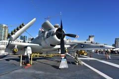 San Diego, Californië - de V.S. - 04,2016 Dec - A1-Hemelraider het Centrale Museum van USS Stock Foto's