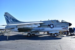 San Diego, Californië - de V.S. - 04,2016 Dec - Vliegtuigen 507 het Centrale Museum van USS Stock Fotografie