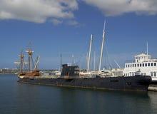 SAN DIEGO, Californië, de V.S. - 13 Maart, 2016: San Diego Maritime Museum in de haven van San Diego, de V.S. royalty-vrije stock afbeeldingen