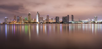 San Diego California Skyline Bay Water Reflection Royalty Free Stock Photo