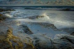 San Diego California Coastline in Spring. Sunset in La Jolla California USA stock photos