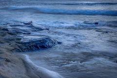 San Diego California Coastline in Spring. Sunset in La Jolla California USA royalty free stock images