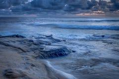 San Diego California Coastline in Spring. Sunset in La Jolla California USA stock photo
