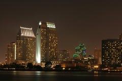 San Diego, California en la noche Foto de archivo libre de regalías
