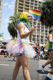 SAN DIEGO, CALIFORNIA - JULY 15, 2017: annual LGBT Gay Pride Parade and Festival. Celebration in Hillcrest featuring local corporate sponsors, celebrities, local stock photography