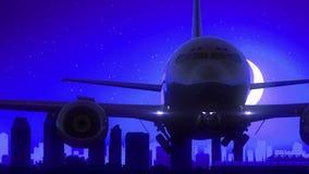 San Diego California los E.E.U.U. América saca viaje azul del horizonte de la noche de la luna metrajes