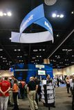 Booth of Microsoft at exhibition in frame of Microsoft Convergence Royalty Free Stock Photos
